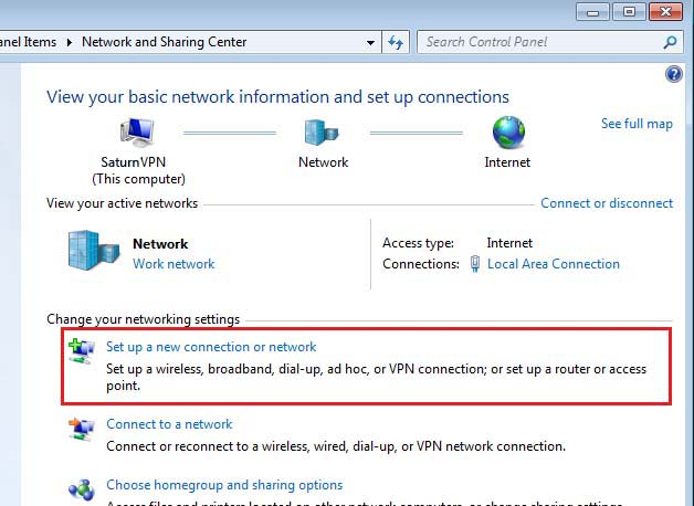setup l2tp vpn windows 7