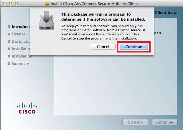 Cisco AnyConnect VPN client for Mac OS X - SaturnVPN