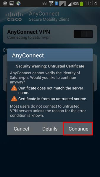 cisco anyconnect vpn android