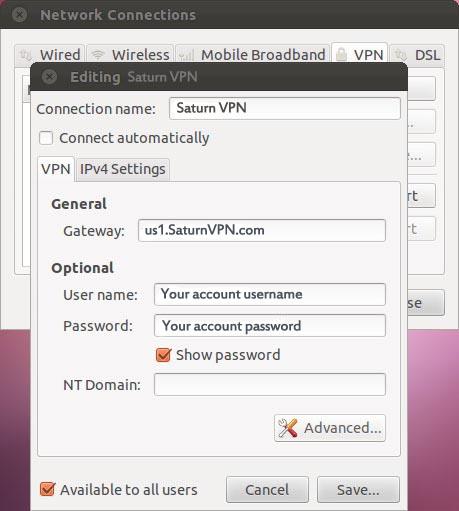 Linux install pptp vpn