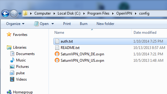 Save Username and Password in OpenVPN Automatic login-