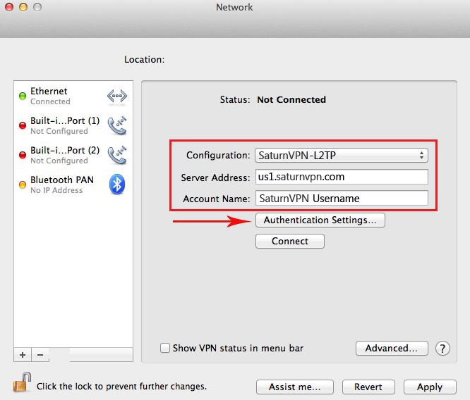 how to setup l2tp vpn mac