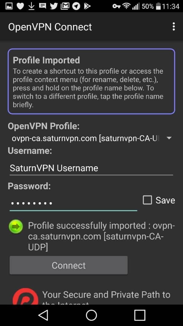 setup openvpn android