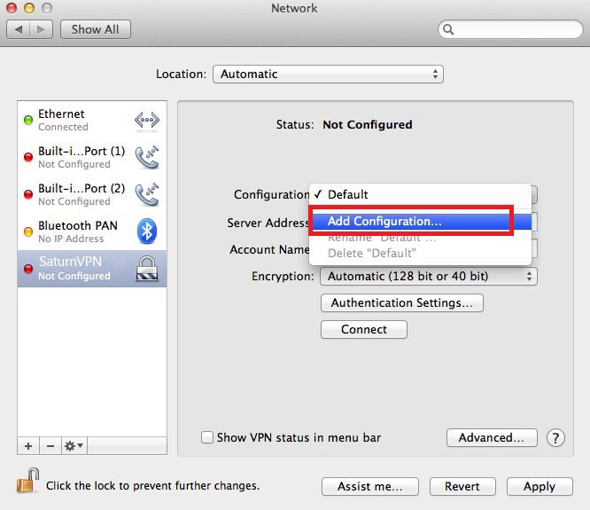 setup l2tp vpn on mac os x