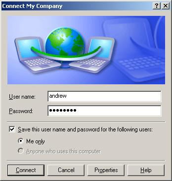 setup pptp vpn windows xp