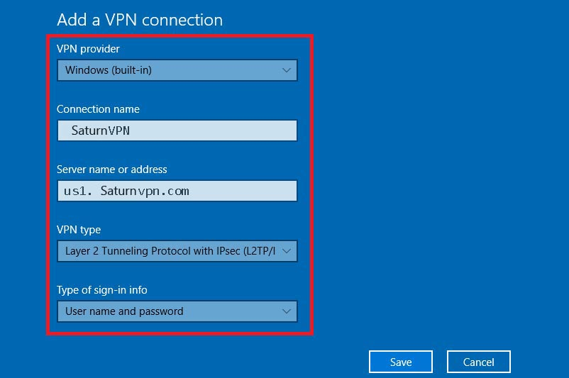 How To Setup L2tp Vpn Windows 10 Saturnvpn