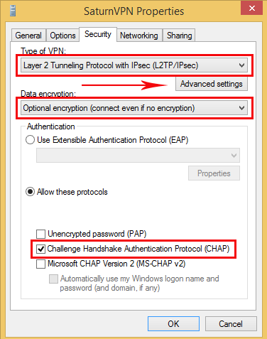 setup l2tp connection on windows 8