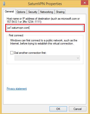 setup l2tp connection on windows 8