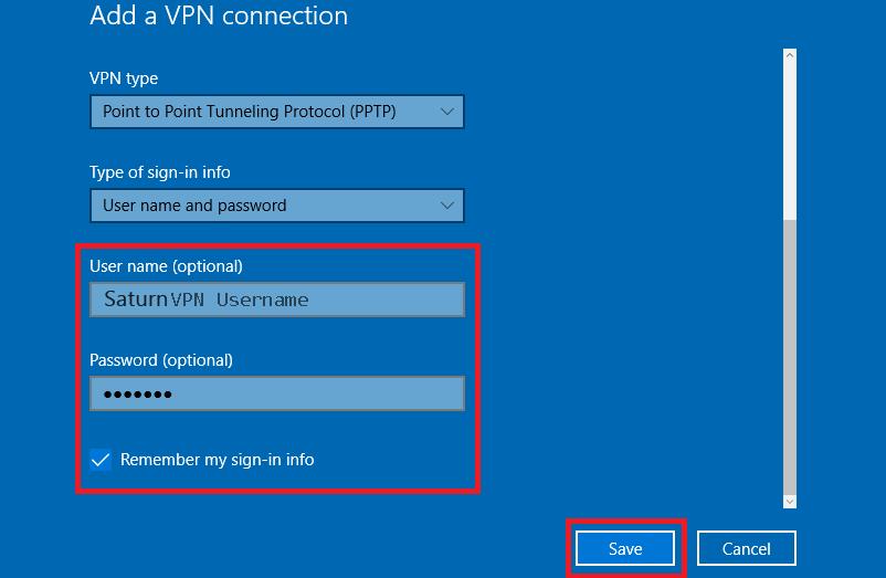 Enable vpn service windows 10