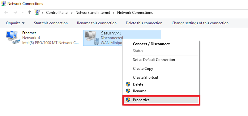 Setup PPTP VPN windows 10 - SaturnVPN
