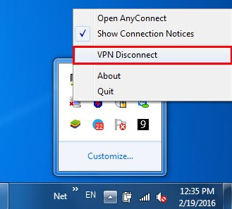 disconnect cisco anyconnect vpn windows 7