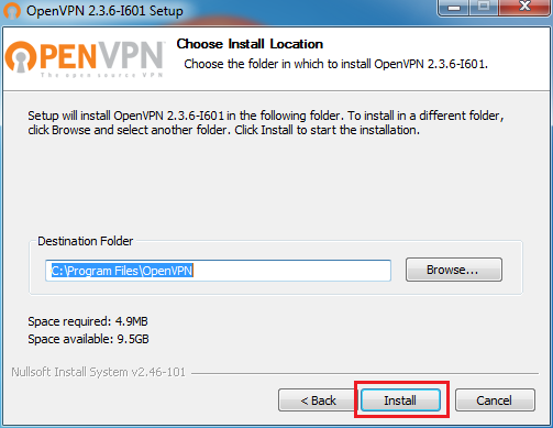 setup openvpn windows 7