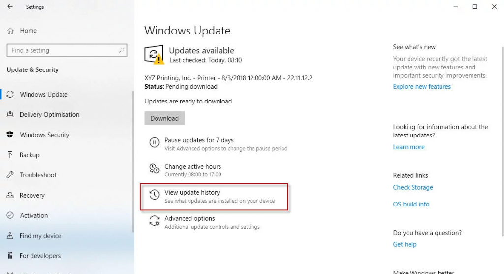 How to uninstall Microsoft Windows 10 updates